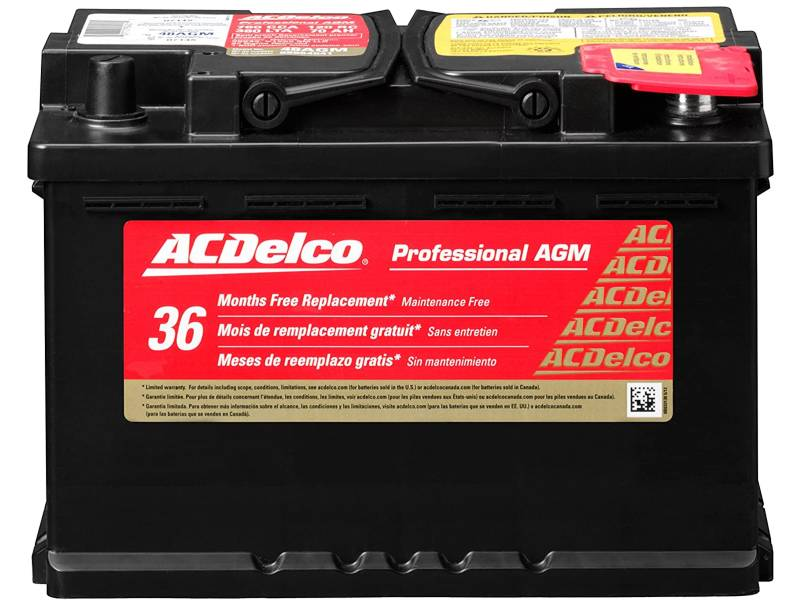 ACDelco 48AGM Automotive Group size 48 H6 Battery