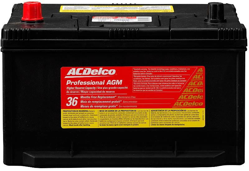 ACDelco 65AGMHR AGM Automotive Group 65 Battery