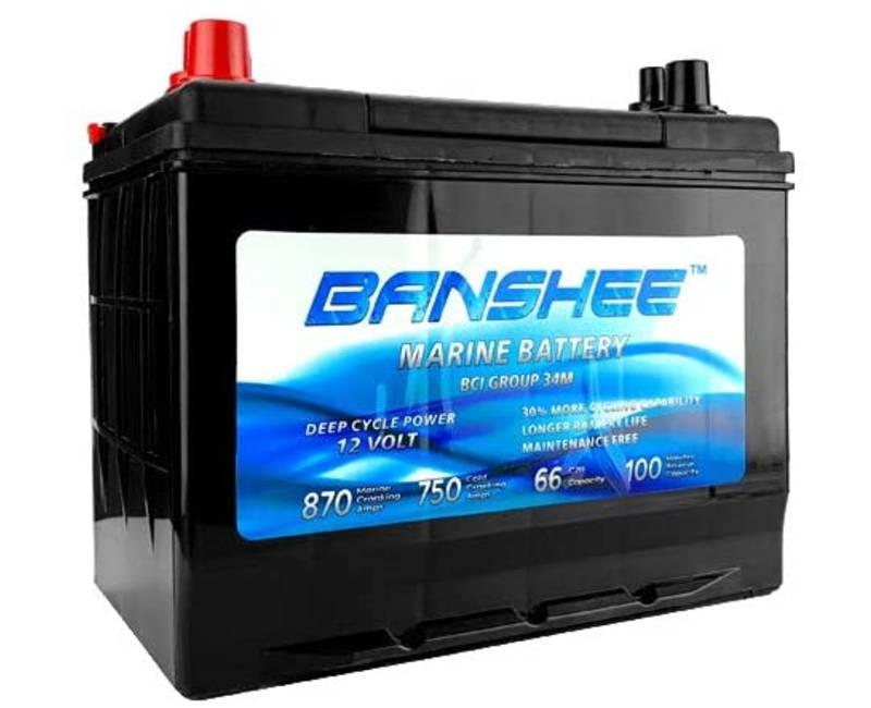 Banshee Deep Cycle Marine Battery Group Size 34