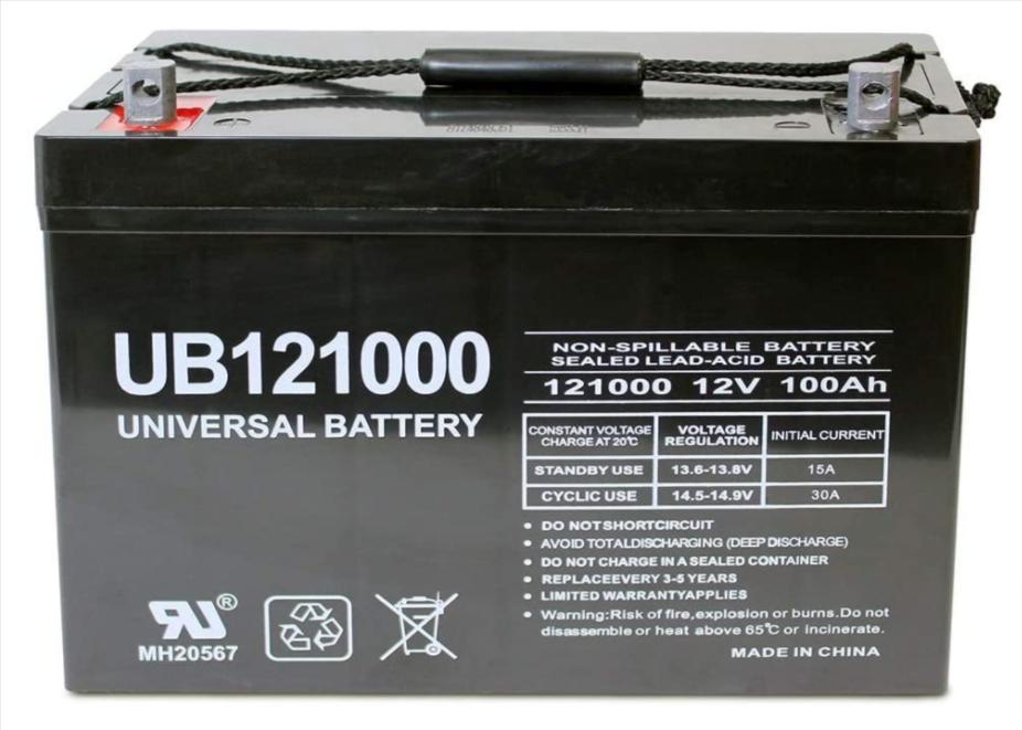 Universal UB121000 AGM Deep Cycle Battery Group 27